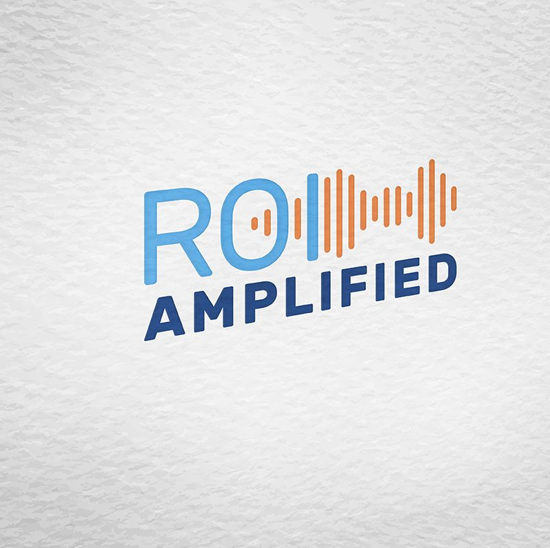 ROI Amplified logo on textured paper