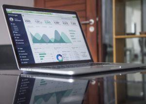 laptop displaying performance metrics
