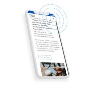 Cell Phone accessing ROI Amplified's proximity marketing services