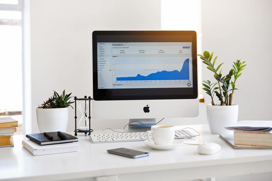 franchise marketing data displayed on an apple desktop computer monitor
